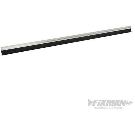 Bas de porte en brosse, poils de 25 mm, Aluminium, 914 mm