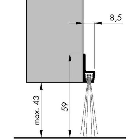 Bas de porte profilé à brosse IBS60 ELTON - 2.50ml - 0308403D