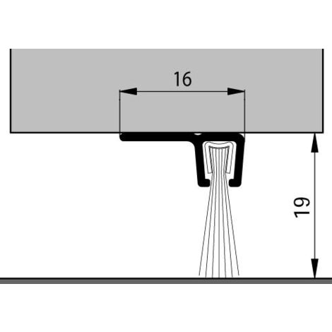 Bas de porte profilé à brosse IBS90/18 ELTON - 3ml - 0308704