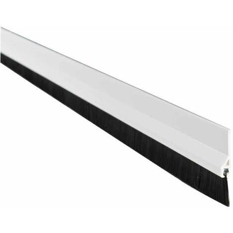 Bas de porte PVC adhesif 1m avec brosse Blanc