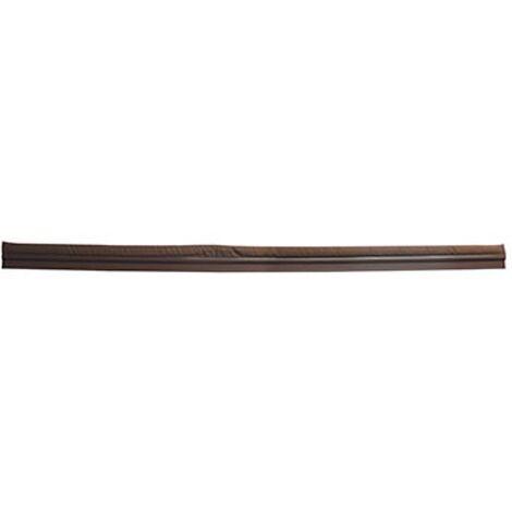 Bas de porte Sencys - PVC / textile brun 1mx5cm
