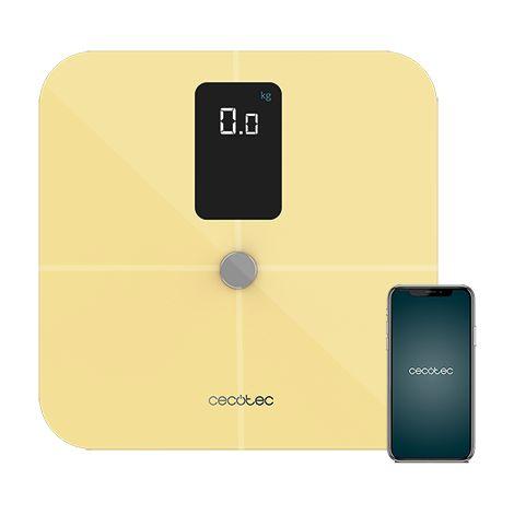 "main image of ""Bascula de baño surface precision 10400 smart healthy vision yellow cecotec"""