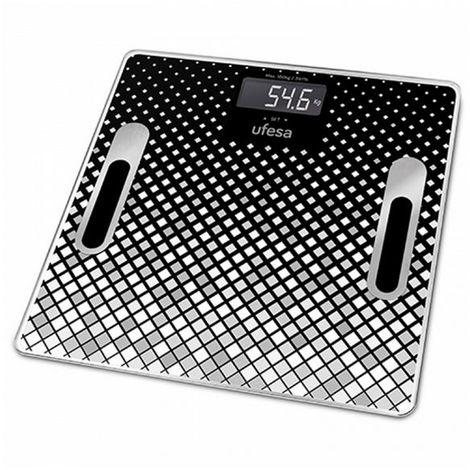 Báscula Digital de Baño UFESA BE1855 Negro (30 X 30 cm)