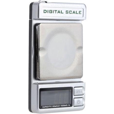 Bascula digital de bolsillo, 500g / 0,1g, 100g / 0,01g, doble precision