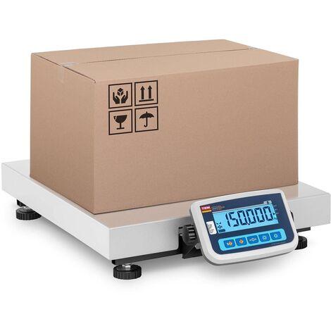 Báscula Para Paquetería Balanza De Paquetes Plataforma 150 Kg/50G Lcd 60X50 Cm