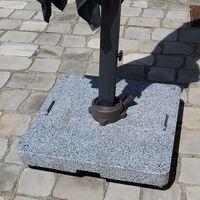 Base à roulettes en granit gris clair 100 kg