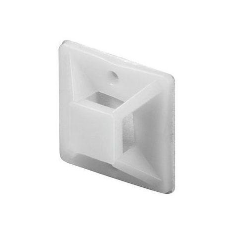 Base adhesiva para bridas de 20x20 mm 100 uds Blanco