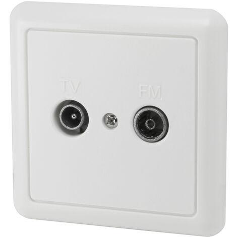 Base antena TV - FM única empotrable 31x82mm. (Electro DH 10.516)