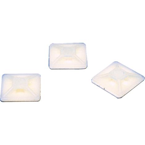 Base autoadhesiva para abrazaderas para 4.8 mm blanco Fixapart NE27726
