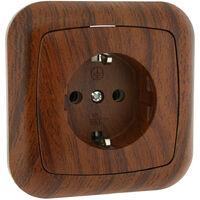 Base bipolar con TTL empotrable madera (Electro DH 36.530/B/MD)