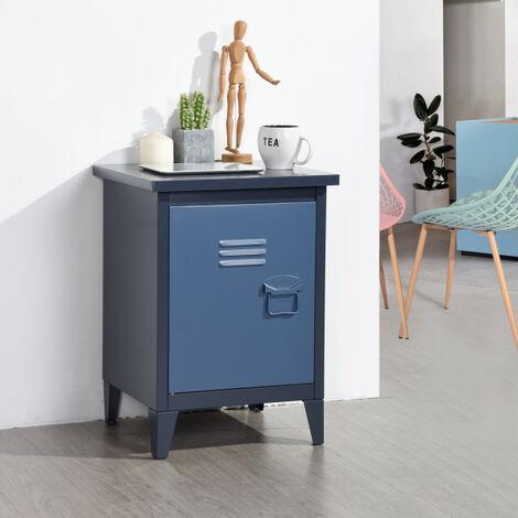 """main image of """"Base cabinet metal cabinet bedside cabinet locker 1 navy blue door"""""""