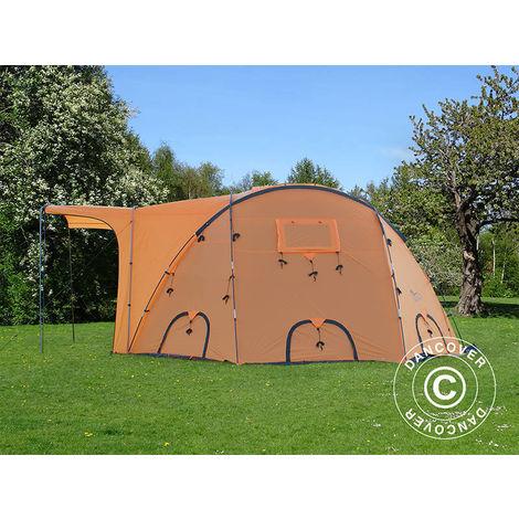 Base Camp/Refugee Tent, TentZing®, 10 persons, Orange/Dark Grey