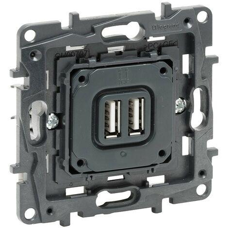 Base cargador doble USB tipo A Legrand 864024 serie Niloe Step