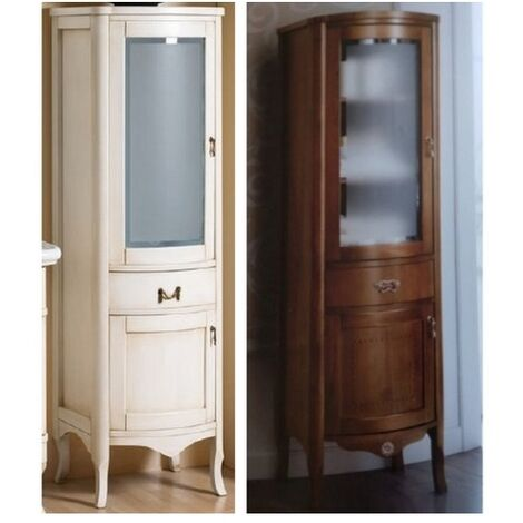 Base da 170x50x40p colonna arredo arte povera stile classico colore bianco  anticato decapè o noce