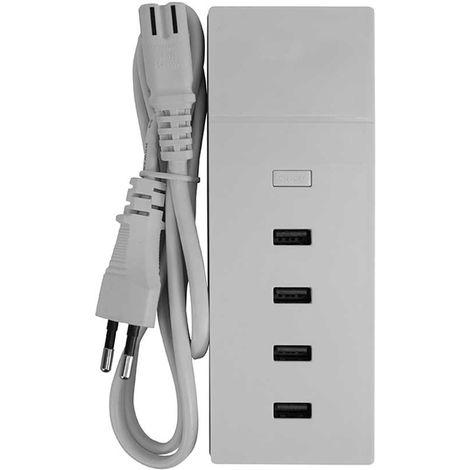 Base de Carga Ultra Rápida 4 USB 1m Blanco 7hSevenOn Elec
