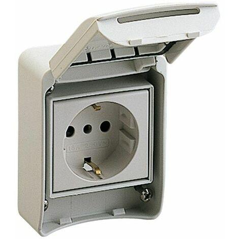 Base de enchufe 2P+T empotrable IP65 81141 para cajas Schneider Kaedra