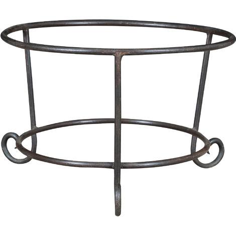 Base de hierro forjado a mano para el porta maceta