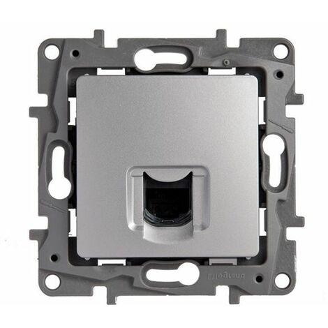 Base de informática RJ45 Cat. 6 UTP Aluminio Legrand Niloe 665373