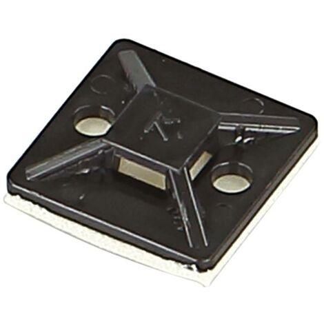 Base de montage compatible avec serre-cables - largeur max 4.6 mm