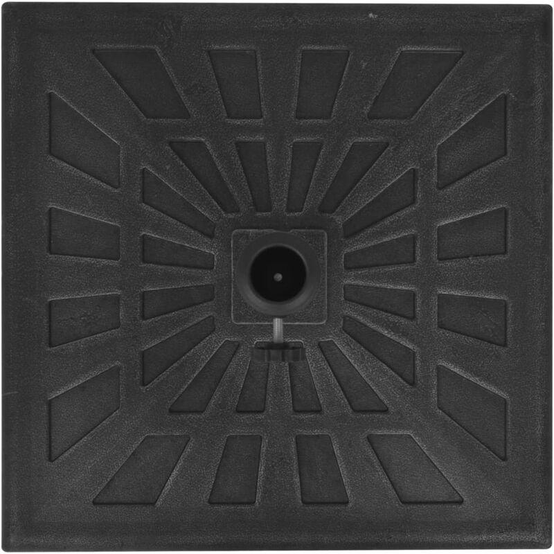 vidaXL Base Cuadrada de Sombrilla Negra 11 kg Soporte Paraguas Parasol Mueble