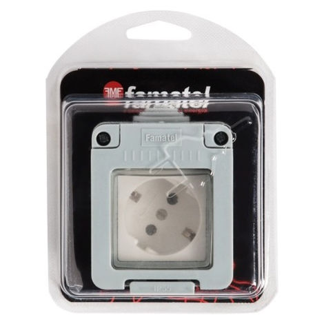 Base elec 120x160x65 estanco tt s/lat 16a-250v ip55 abs gr f