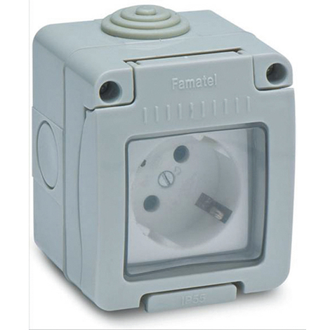 Base Enchufe Schuco estan Ip55 - FAMATEL - 19068 - 16 AMP
