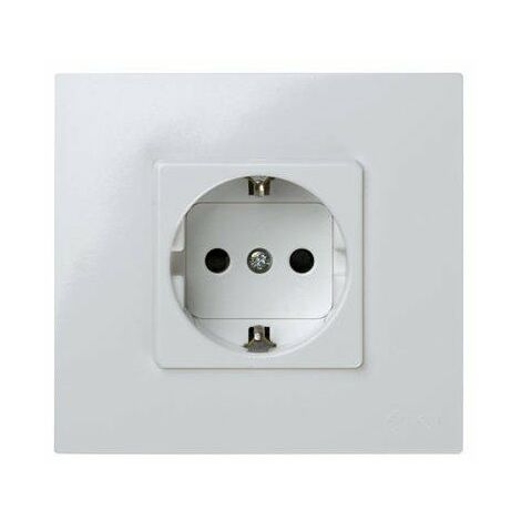 Base Enchufe Schuko + Marco en Monobloc 16A 250V Simon 27 Play 2791432-030