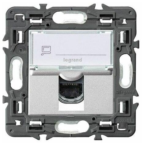 Base informatica RJ45 CAT6 Legrand 741375 serie Valena Next color aluminio