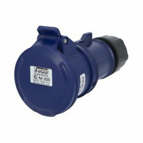 BASE IP44 S.11 32A-220/240V 2P+T 6 Hs.