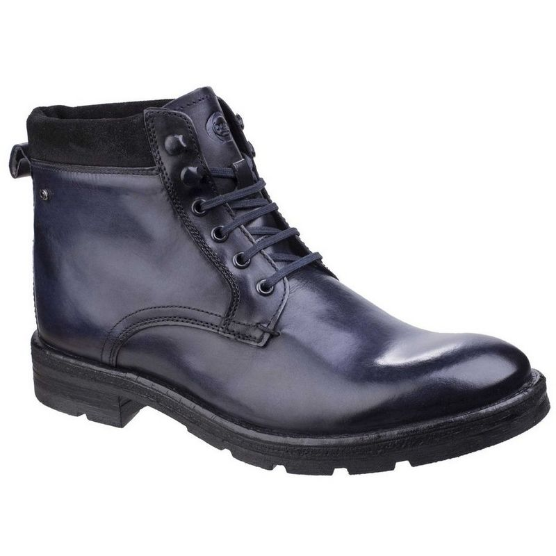 Image of Base London Mens Panzer Washed Work Boots (7 UK) (Washed Blue)