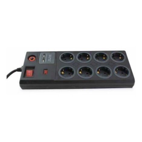 Base multiple 8 enchufes + 2 USB + interruptor general 1,4 metros GSC 000803393