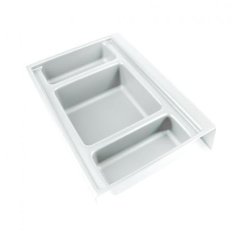 Base organizadora Onda Emuca para cajón profundidad 350 mm en plástico blanco