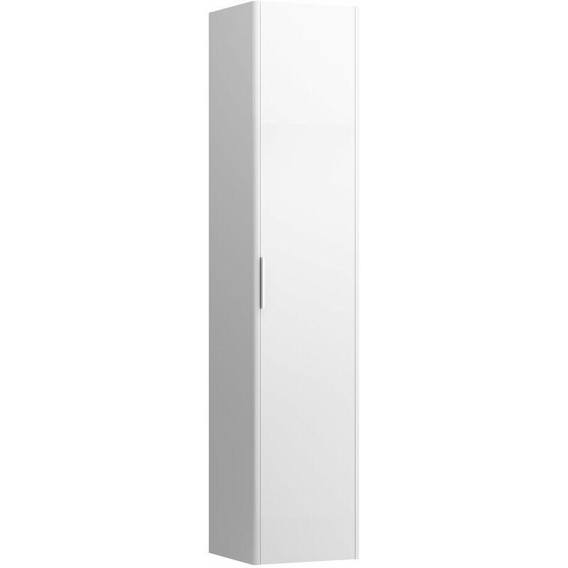Base para correr Armario alto, con proyección baja, cierre suave, bisagra a la izquierda, bordes redondeados, color: Blanco brillante - H4026711102611