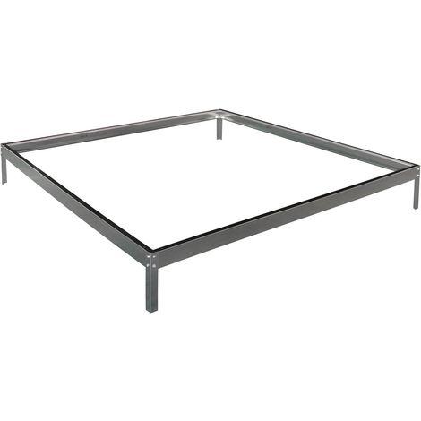 Base para invernadero en policarbonato Hortensia 3,65m² color Zinc
