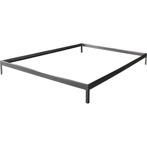 Base para invernadero en policarbonato Hortensia 4,8m² color Zinc