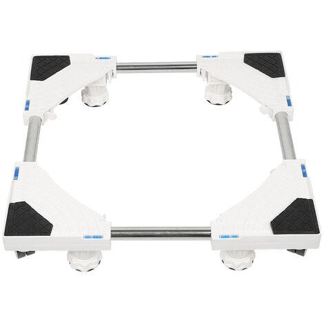 """main image of """"Base per lavatrice Carrello a rulli per frigorifero Supporto per lavatrice Asciugatrice Congelatore regolabile 47-69 cm - Argent-blanc"""""""