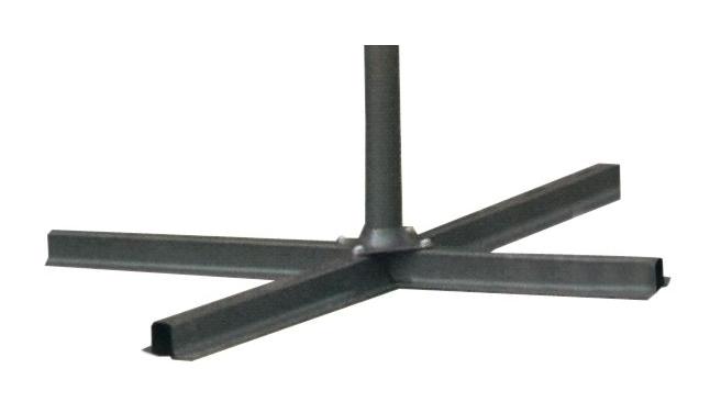 Base per ombrellone a croce in metallo mt tubo Ø tubo mm