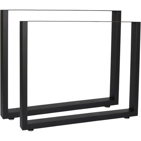 Gambe In Alluminio Per Tavoli.Base Per Tavolo 80x72 Cm Verniciatura A Polvere Nero Telaio Per