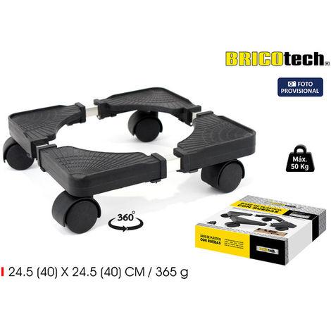 Base Plast. C/ruedas 24.540x24.540 Bricotech