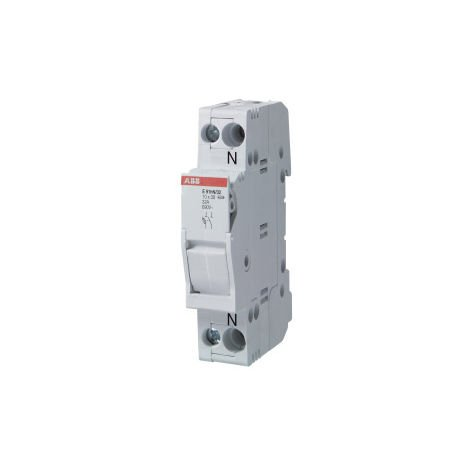 Base portafusible E91N/50 50A 1p+N ABB 2CSM277982R1801