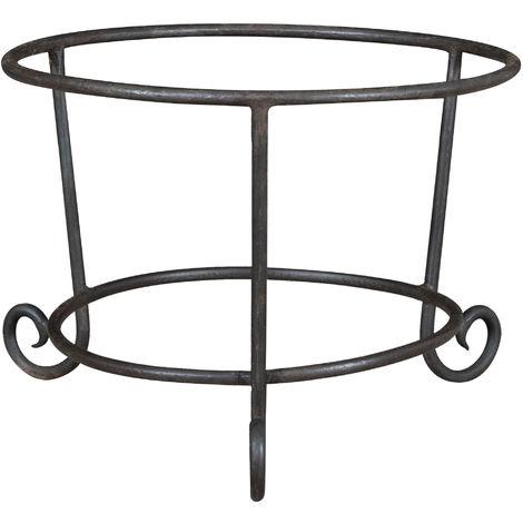 Base porte-pot en fer forgé entièrement forgé à la main