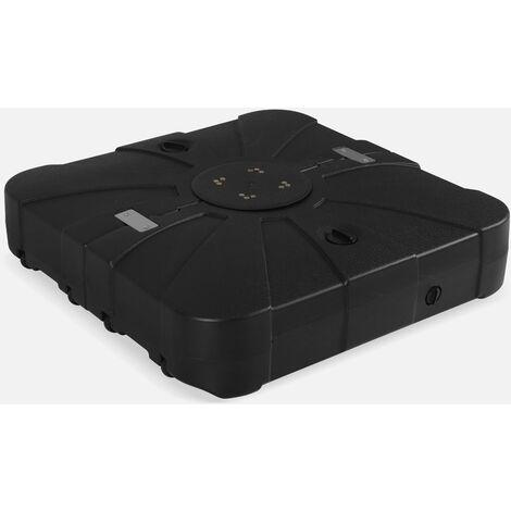 Base rellenable para Sombrilla Excéntrica con ruedas - 100L - Negro