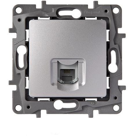 Base rj12 aluminio LEGRAND NILOÉ 665385