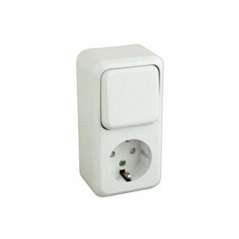 Base schuko con interruptor de color blanco Electro Dh 36.470/BI/B 8430552106998