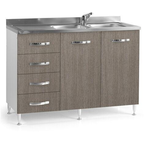 Base sottolavello cucina 120x50xH85 in legno con ...