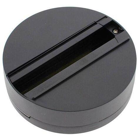 Base superfície carril trifásico, negro