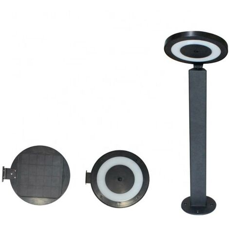 Base tipo bolardo para lámpara solar exterior LED