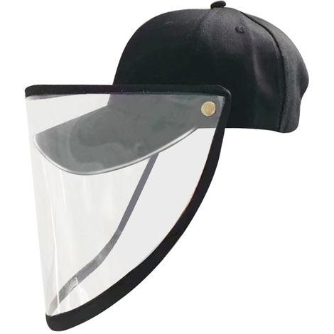 Baseballm¨¹tze mit transparenter Maske, schwarz