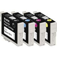 Basetech Encre remplace Epson T0711, T0712, T0713, T0714 compatible pack bundle noir, cyan, magenta, jaune BTE107 1607,4005-126