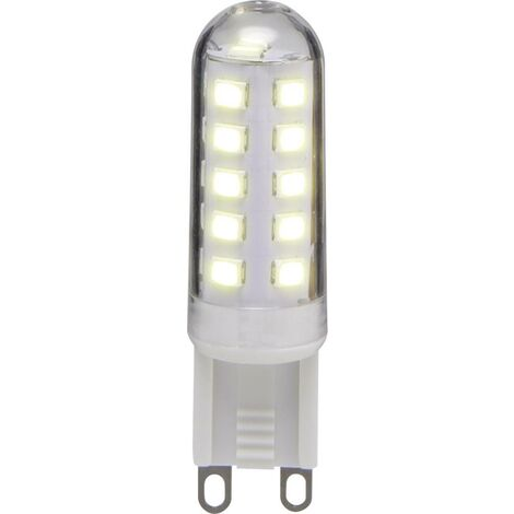 Basetech LED EEK A+ (A++ - E) G9 Stiftsockel 2.9W = 25W Warmweiß (Ø x L) 15.50mm x 55mm W050011
